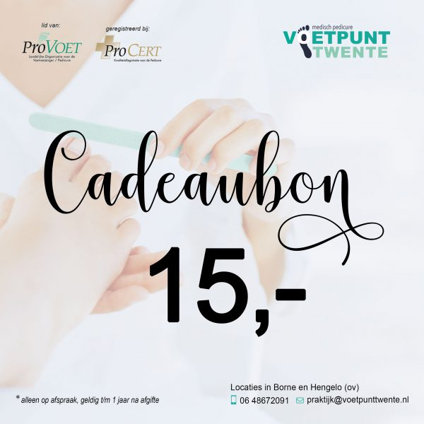 Cadeaubon-15 Voetpunt Twente