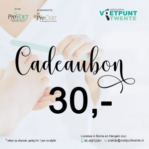 Cadeaubon-30 Voetpunt Twente